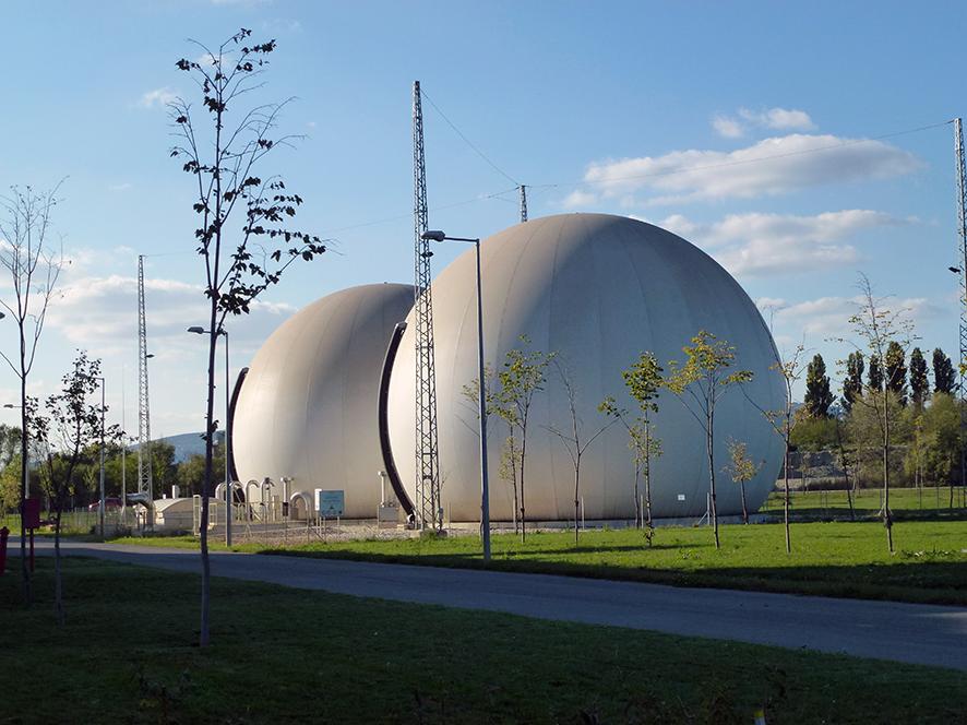 Double Membrane Biogas Storage